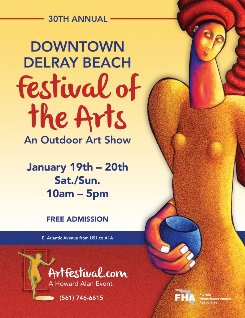 Jan. 19th – 20th, 30th Annual Downtown Delray Beach Festival of the Arts